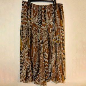 ⚪️Ruby Rd Tribal Patterned Skirt